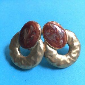 Clip-on Goldtone Earrings